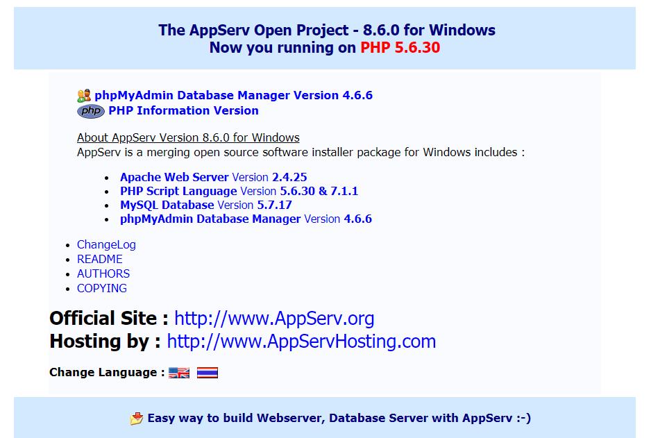 برنامج السيرفر المحلى AppServ 8.6.0 : Apache + PHP + MySQL attachment.php?attachmentid=13791&stc=1&d=1548850682