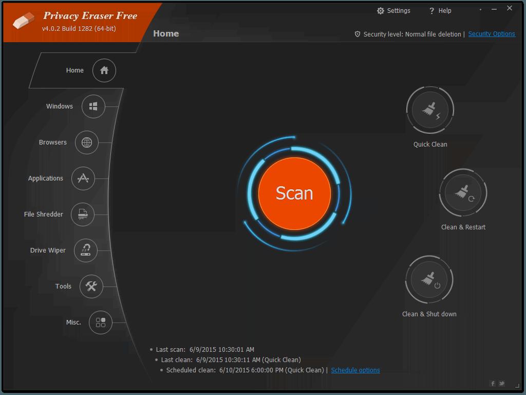 برنامج حماية الخصوصية وتنظيف الكمبيوتر Privacy Eraser Free 4.42.0.2676 198-cached.png