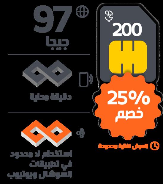 شريحة eSIM 200 من جوى 97 جيجا انترنت + انترنت لا محدود لتطبيقات التواصل الاجتماعي + مكالمات غير محدودة 5913-cached.png