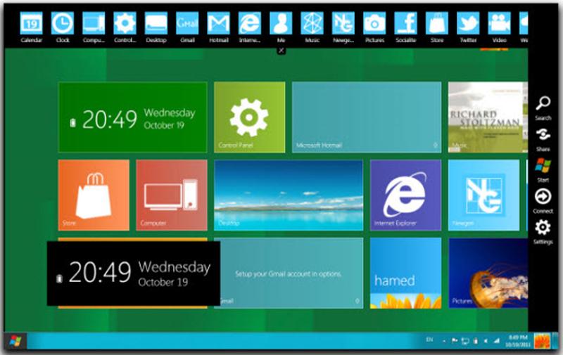 [ ������ ] : ���� ���� ������ ������ 7 ��� ������ 8 Win8.1 SkinPack 1.0 for Windows 7