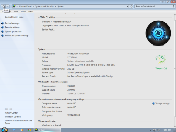 ������ 7 ���  ������ ��� ������ Windows 7 TWEAKER EDITION 2014 ����� ������ ������