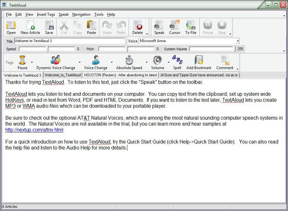 ������ TextAloud 3.0.65 ������ ������� ������� �������� ��� ���