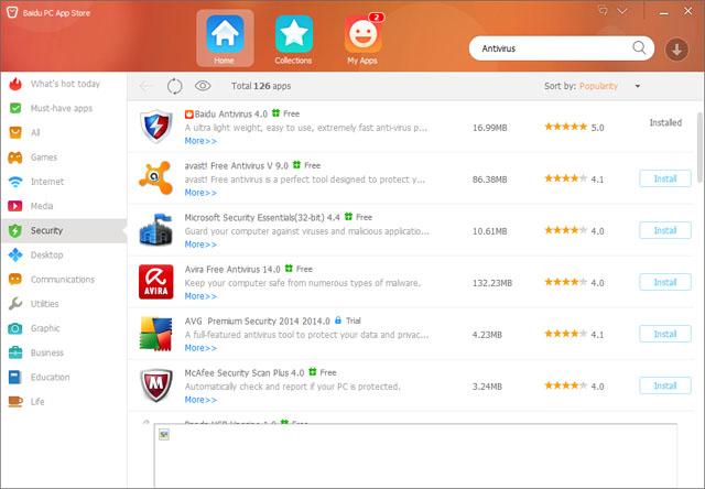 ������ Baidu PC App Store ���� ���� ������� ������