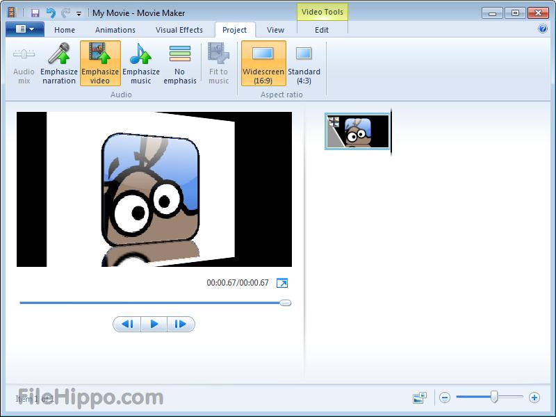 ����� ���� �� ������ ���� ������� windows Live Movie Maker 16.4.3528