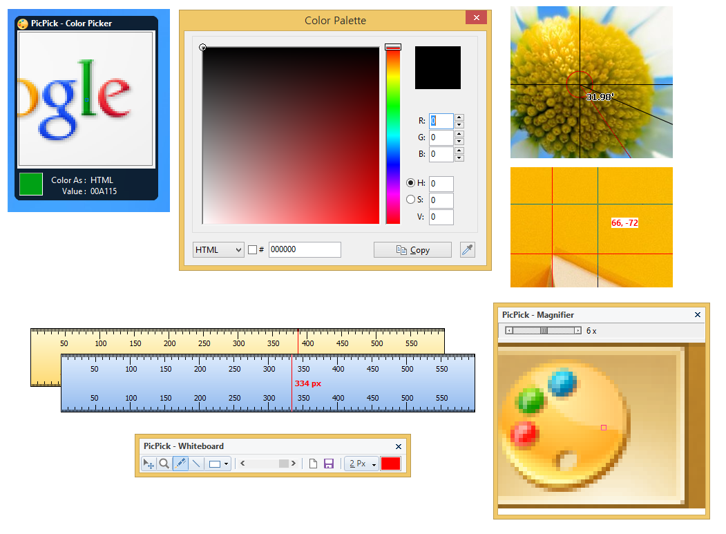 ������ PicPick 3.3.3 ������� ������ ������ ����� �����